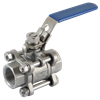 3 Peice Full Bore St St Ball Valve