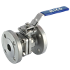 2 Peice Stainless Steel Flanged ball Valve
